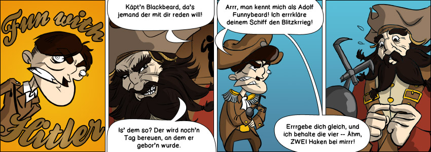 Piece of Me. Ein Webcomic über furchterregende Piraten und Blackbeard.