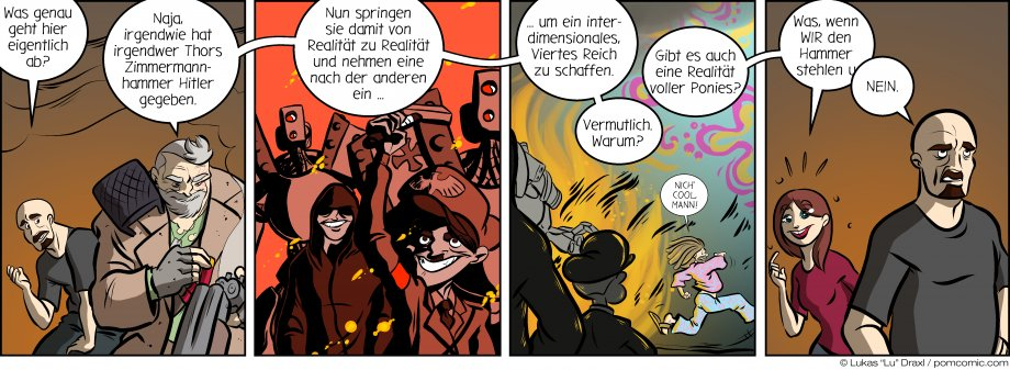 Piece of Me. Ein Webcomic über Hitlers bösen Plan mit Thors Zimmermannhammer.