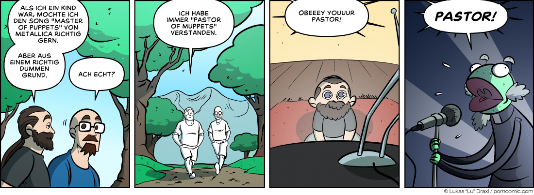 Piece of Me. Ein Webcomic über falsch verstandene Texte in Metallica-Songs.