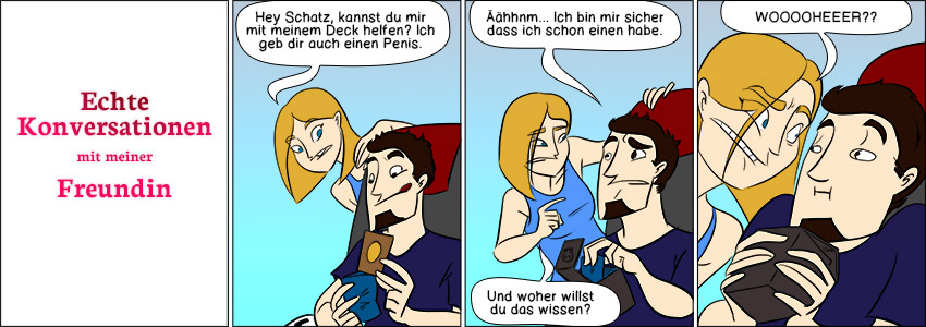 Piece of Me. Ein Webcomic über seltsame Konversationen. PENIS!